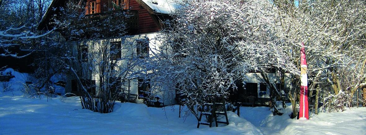 Winter im verschneiten Grashöfle