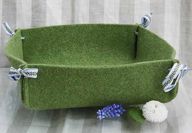 Brotkorb Filz grün