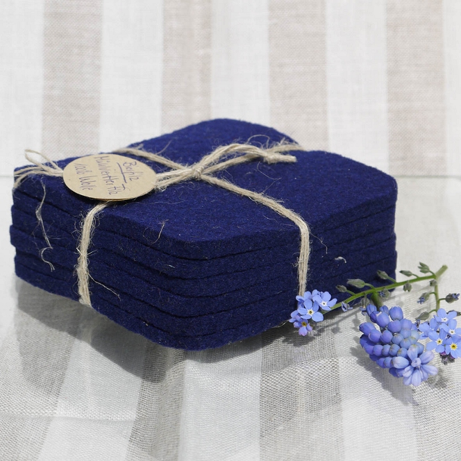 Filzuntersetzer blau