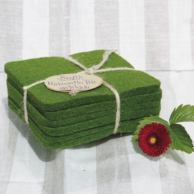 Filzuntersetzer grün