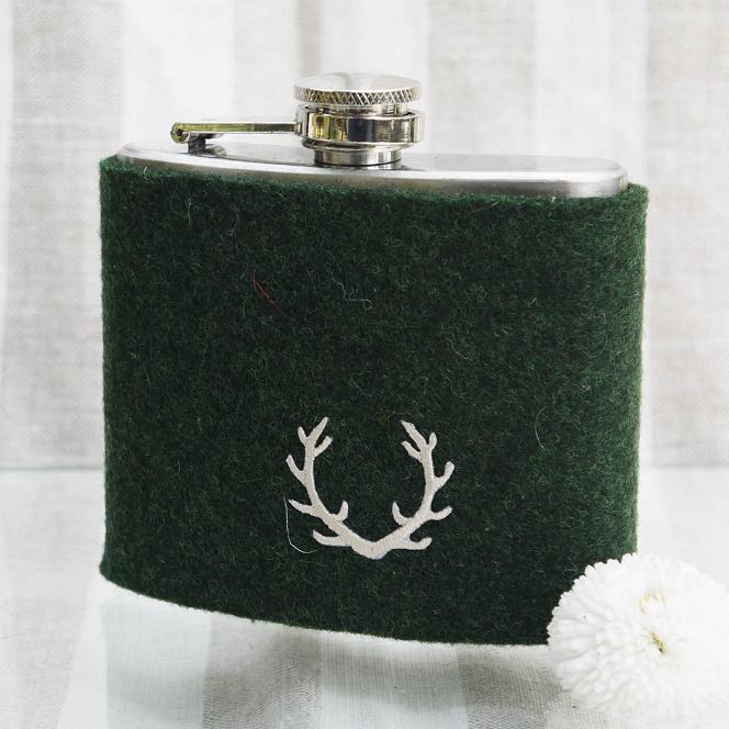 Flasche Filz dunkelgrün