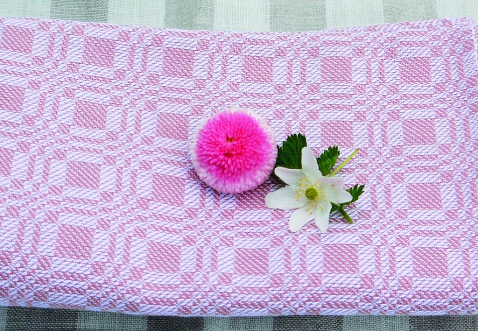 Geschirrtuch Muster rosa