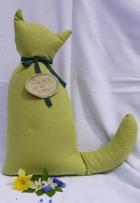 Katze hellgrün