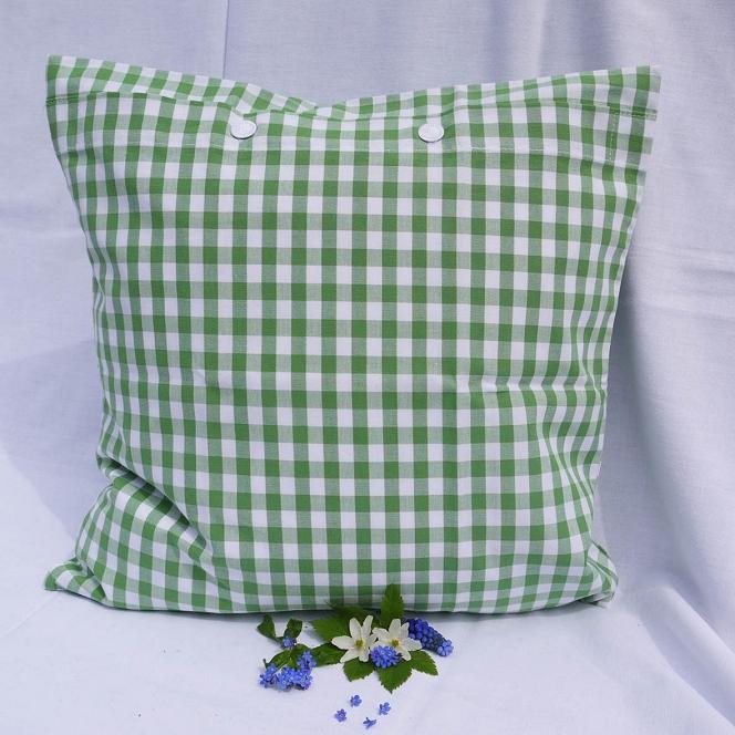Kissenhülle Karo grün