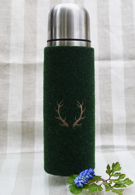 Thermosflasche Filz grün
