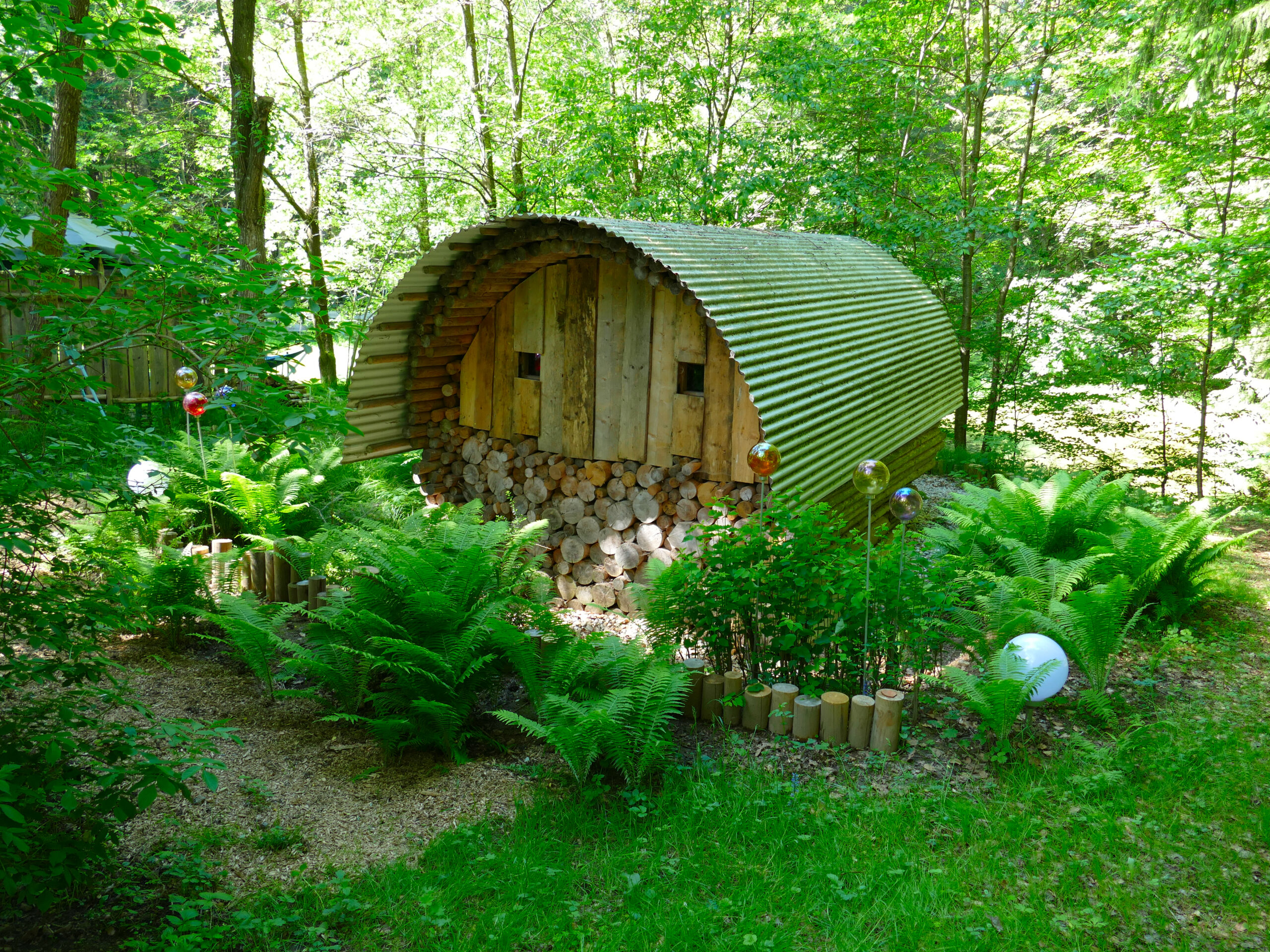 Sauna im Garten